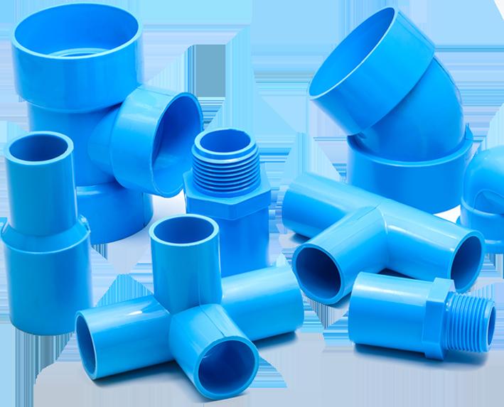 Blue Plastic Extrusion Parts   R&M Plastics